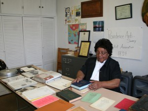 Sis. Barbara Scott in the History Room @ Association
